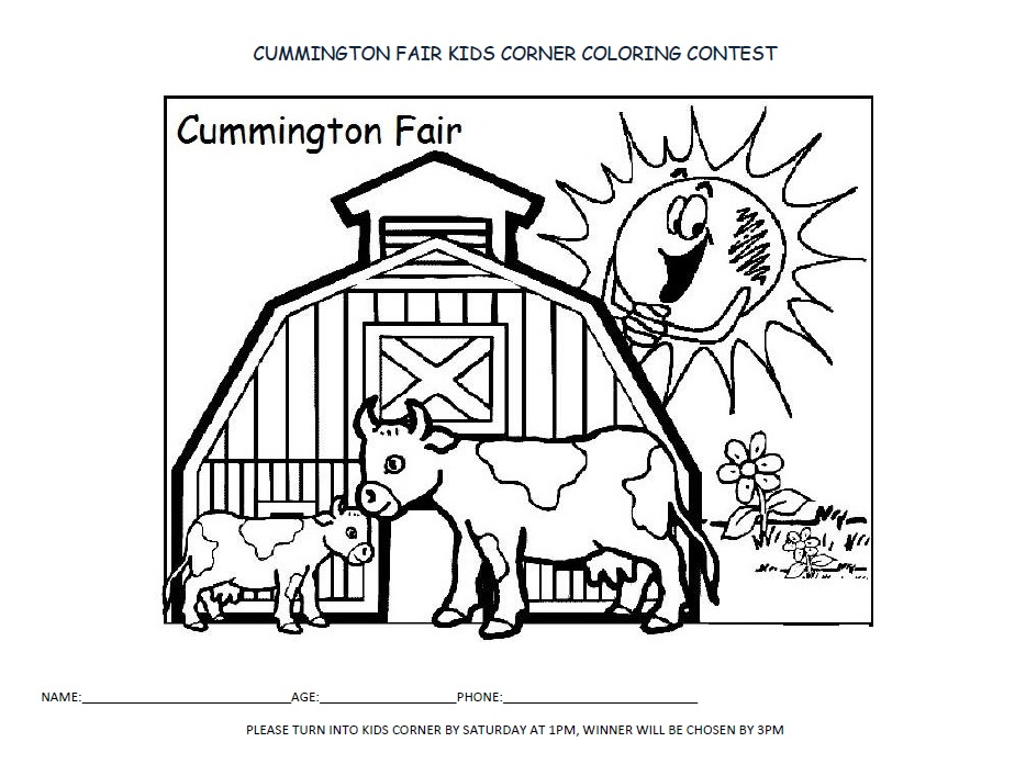 Coloring Contest – Cummington Fair