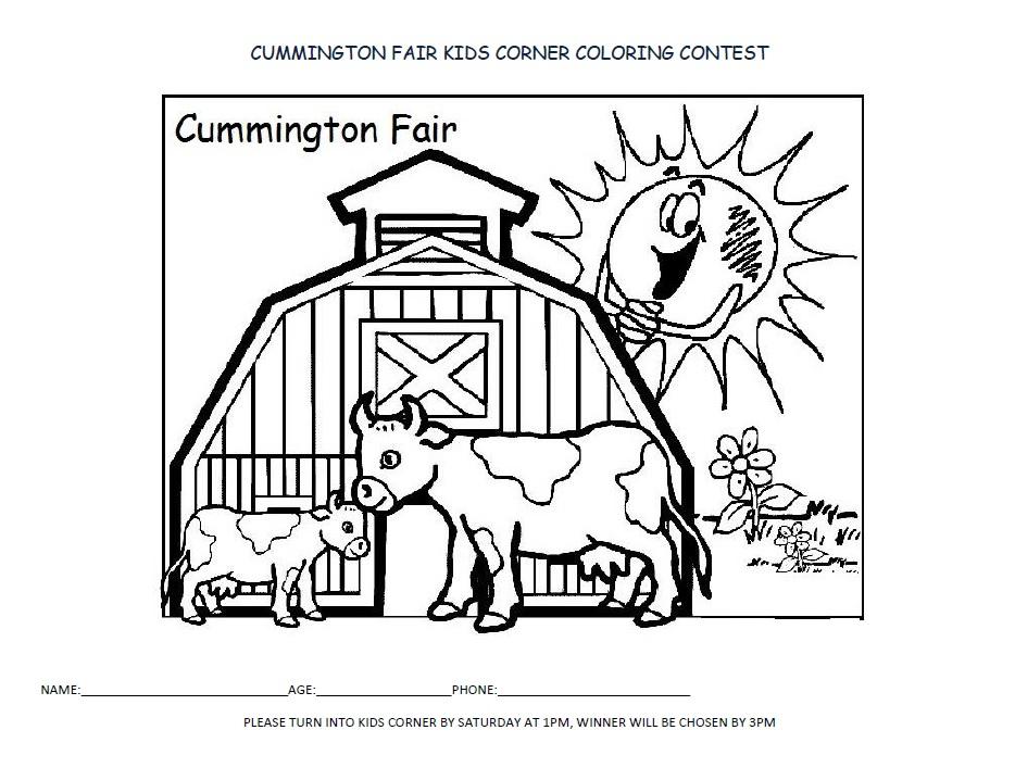 coloring contest  u2013 cummington fair